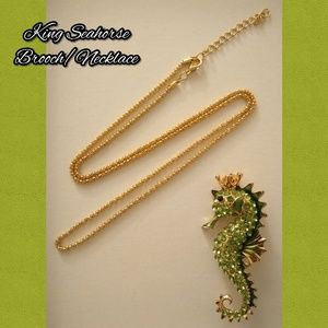 Jewelry - King Seahorse Necklace/Brooch